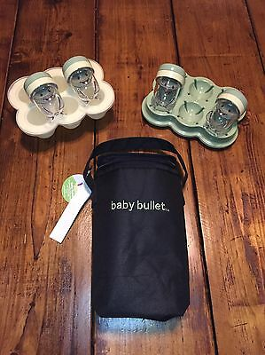 Magic Baby Bullet Date Storage Cups, Easy Pop Tray & Portable Bottle Bag