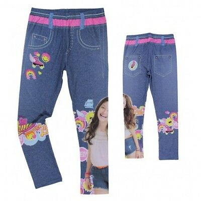 Disney Soy Luna Kinder Mädchen Leggings  Jeans Optik 122 128 134 140 146 152