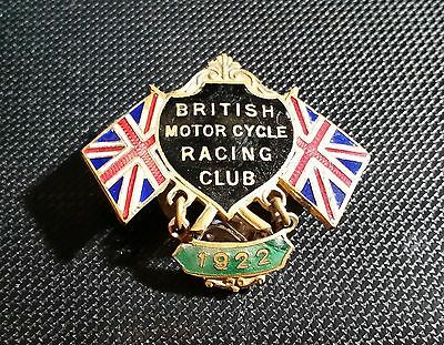 British Motor Cycle Racing Club BMCRC Knopf emailliert Maße 38x35mm Dobson Sons