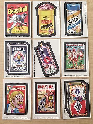 1975 Topps Wacky Packages 13th Series 13 9/30 Vtg Doomed Beastball Nooseweek