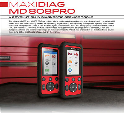 New!!! AUTEL MaxiDiag MD808Pro Diagnostic Scanner/Service PRO Codereader Tool