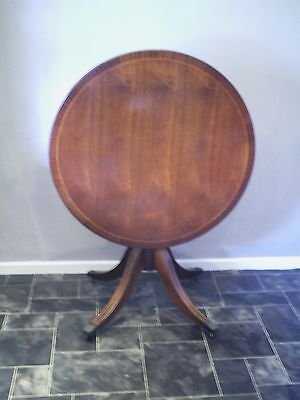 Edwardian Table Round Fold Up + Metal Feet & Castors