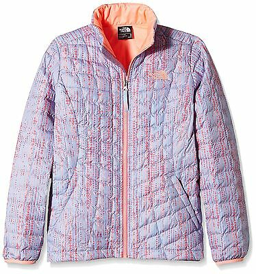 (TG. Large) Girl's The North Face Thermoball-Giacca con Zip intera, collo (o4r)