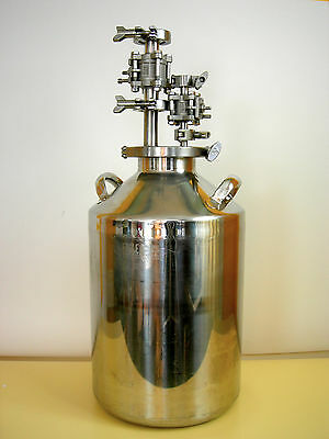 Eagle BTB-27 316 Stainless Carboy 20L w/ fill dispense head with 2 ball valve