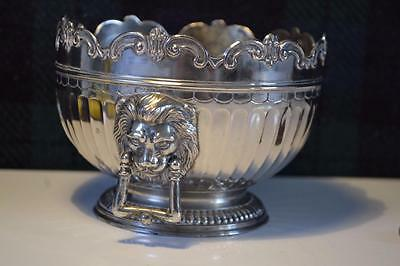 Collectors  Silver Plated Planter with lion handles.C&Co