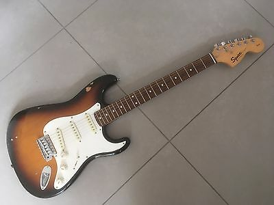 Fender Squier sunburst Stratocaster . 20th Anniversary. Roadworn.