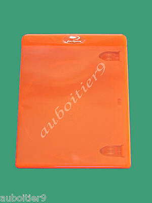Boitier Blu Ray Simple Couleur Orange  ***** Neuf