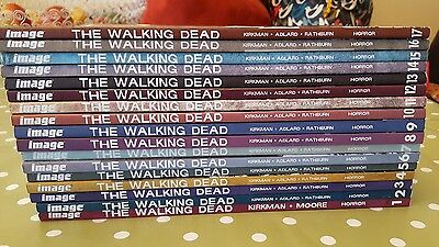 walking dead graphic novels series vol 1 to 17