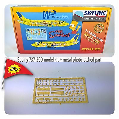 Plastic Aircraft Model Kit SKYLINE Boeing 737 - 300 The Simpsons Scale 1/144