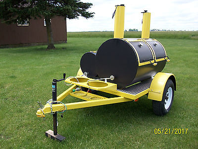 Trailer mounted BBQ Smoker/Grill