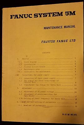 Original Fanuc Systems 5T And 5M Operator's And Maintenance  Manuals