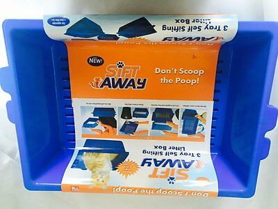 Sift Away Cat Self Sifting Litter Box - 3 Part System - Don't Scoop The Poo Cats