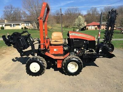 2007 Ditch Witch 420SX Rubber Tired Vibratory Cable Plow Trencher loader bob cat