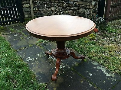 Old Antique Regency William IV 4th Pedestal Dining Card Drop Top Table