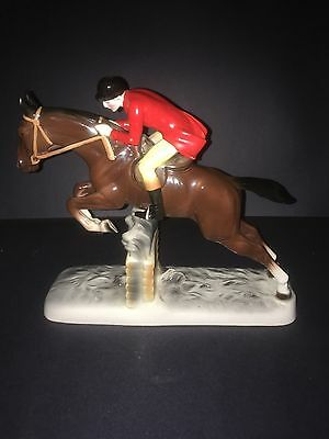 Rare Steeplechase Horse and Rider