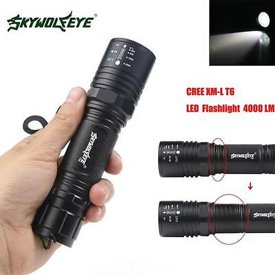 4000LM Zoomable CREE XM-L T6 LED High Power Flashlight Torch Lamp 5 Modes