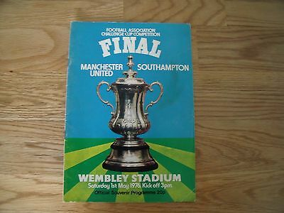 1976 FA Cup Final Football programme- Manchester United v Southampton
