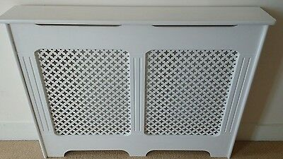 Wooden radiator covers in white