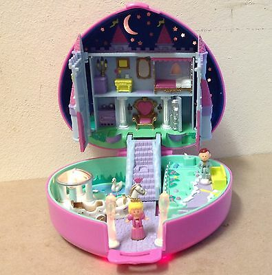 Polly Pocket Starlight Castle 1992 COMPLETE WORKING CLEAN COMPACT Excellent pink