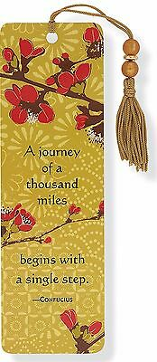 Japonica Beaded Bookmark Inspirational Quote Fun Cheap Gift Reading Books Book