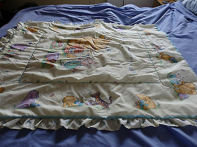 Mothercare, Disney winnie the Pooh and friend cot bed quilt.