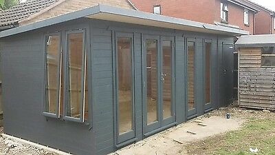20ft X 9ft Double Glazed Summer House, Home Office, Gym,  delivered and erected