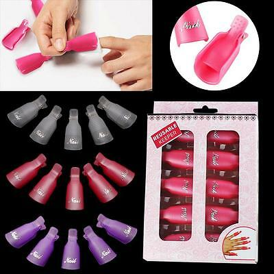 Nail Soak Art Wearable Plastic Soak Off Cap Clip Gel Polish Remover Tool