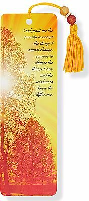 Beaded Bookmark Serenity Inspirational Quote Gift Reading Books Mark Fast Post