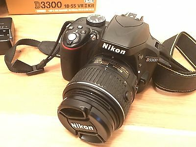 Nikon D D3300 24.2MP Digital SLR Camera - Black (Kit w/ AF-S DX 18-55mm VR II L…