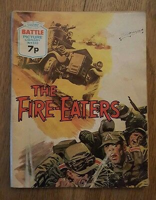 Fleetway Battle Picture Library No.840 The Fire-Eaters 1974