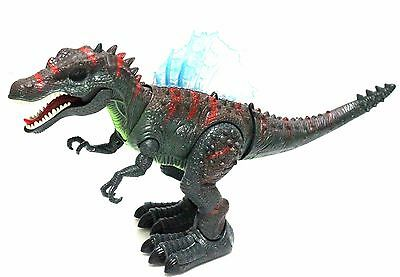 Walking Dinosaur Spinosaurus Toy Light Sound Moving Green Figure Boys Birthday