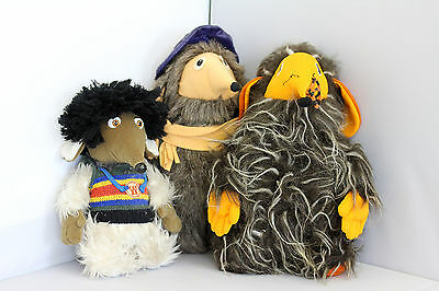 A Collection of Three Vintage Wombles Soft Toys Various Generations 1970's-90's