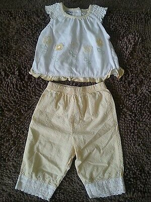 Kids Play*Yellow Floral 2pc Outfit*Toddler Baby Girl 18m*EUC