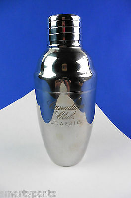 "CANADIAN CLUB whisky cocktail shaker mini 6-1/2"" H stainless Steel"