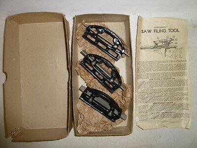 Vintage tool (3) Saw Jointers, New Old Stock, in Original Box