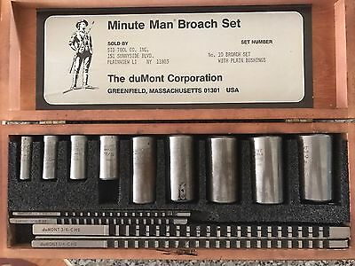 Minute Man Key way And Broach Set No. 10