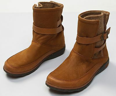 24c73a3724be Women s Chaco HOPI Rust Leather Wool Winter Ankle Boots Size Sz US 7 NWOB  NEW