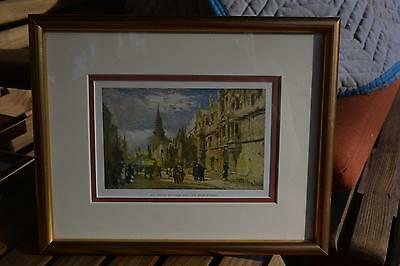 Gold Framed Colored Print ? Picture ALL SOULS COLLEGE High Street Oxford England
