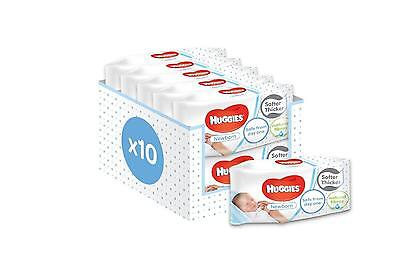 Huggies New Born Baby Wipes - Pack of 10