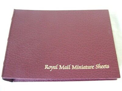 Royal Mail Miniature Sheets Ring Album & Special Leaves, Very Good Condition