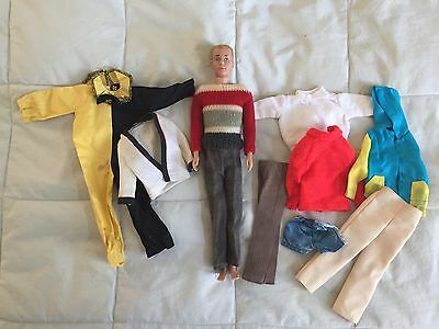 Vintage 1960s Ken Doll and Clothes lot