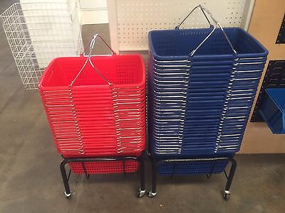 Blue shopping basket 25 litres BRAND NEW retail shop fittings