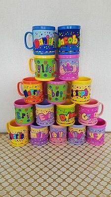 Girl/Boys Childrens 3D Personalised Name Plastic Cup/Mug New Perfect Gift UK