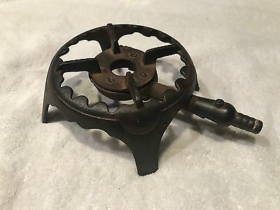 Vintage Antique Industrial Cast Iron Round Gas Burner, Stove Top, Hot Plate