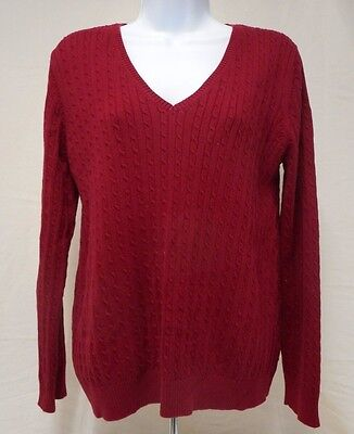 Motherhood Red  Long Sleeved Sweater 100% Cotton Womens L