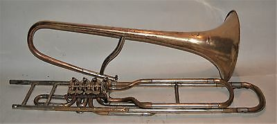 Cerveny 4 rotary valve trombone, playing condition  late 1800's to early 1900's