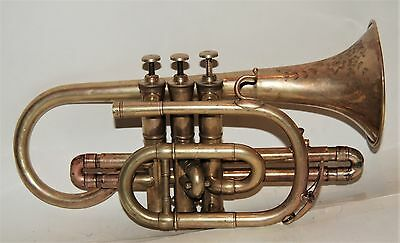 Cornet by Moses Slater  about 1880, fine ornamentation on bell,  good player