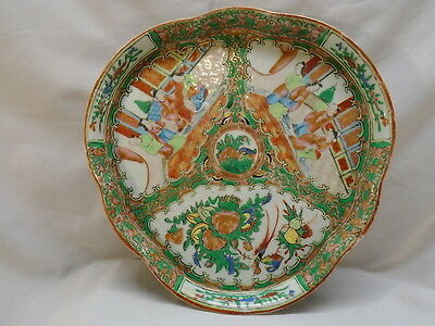 Early Chinese Export Rose Medallion Canton  Lobed Tray