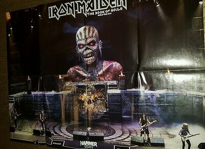 IRON MAIDEN book of souls tour 2016 / legacy of beast POSTER by METAL HAMMER new