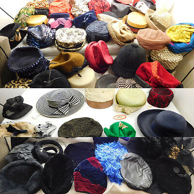 ECLECTIC Vintage Womens HAT COLLECTION X95 Rare 1930s - 1970s Fashion Classics